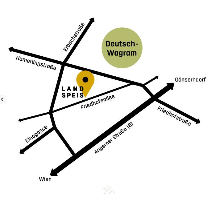 Karte Deutschwagram blass